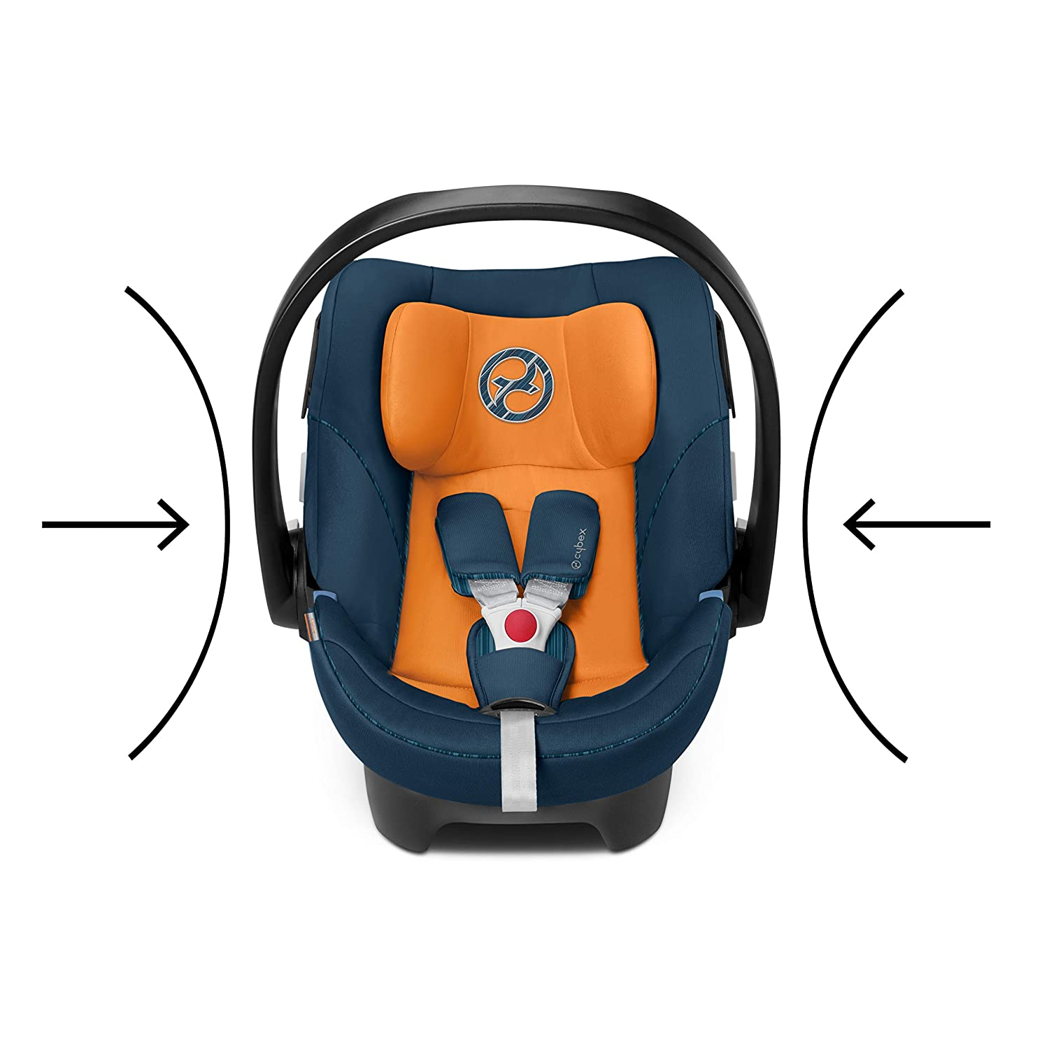 Incl CYBEX Gold Baby Car Seat Aton 5 13 kg Max Newborn Insert 18 months Birth to Approx navy blue