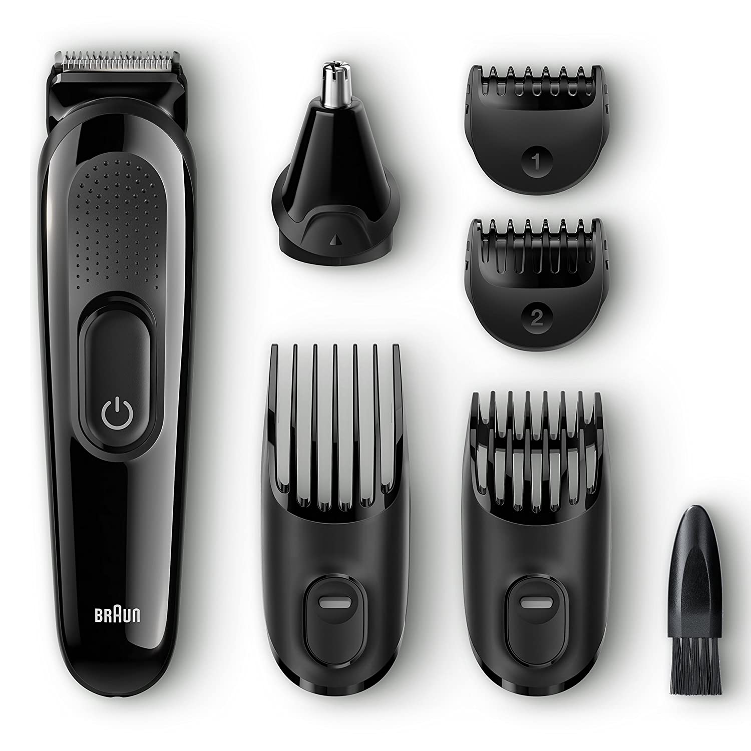Braun MGK3020 Men's Beard Trimmer for Hair/Hair Clippers/Head Trimming, Grooming Kit, 6-in1 Precision Trimmer, 13 Length Settings for Ultimate Precision
