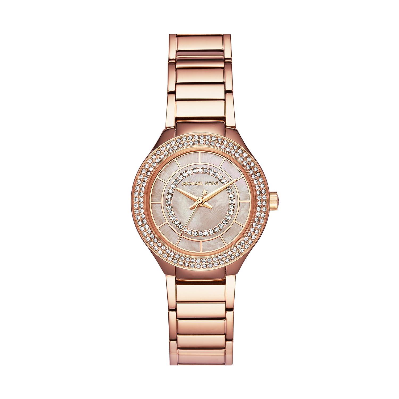 8c6ff9583862 Amazon.com  Michael Kors Women s Mini Kerry Analog-Quartz Watch with  Stainless-Steel Strap