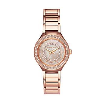 8c6ff9583862 Amazon.com  Michael Kors Women s Mini Kerry Analog-Quartz Watch with  Stainless-Steel Strap