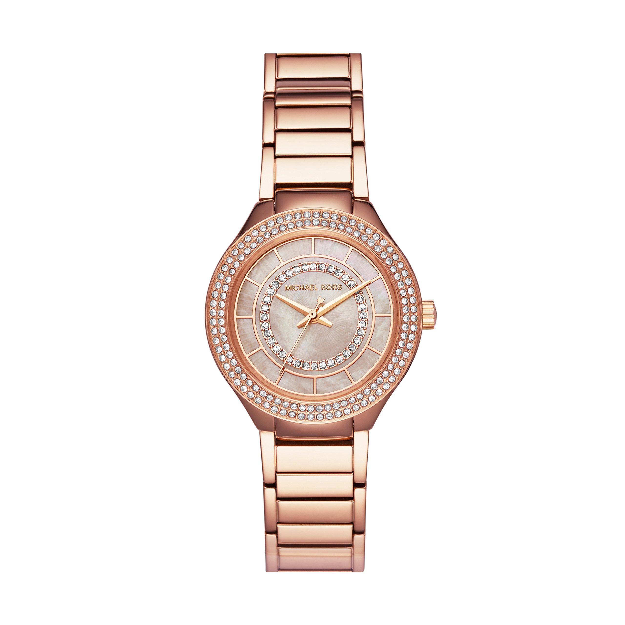Michael Kors Women's 'Mini Kerry' Quartz Stainless Steel Casual Watch, Color:Rose Gold-Toned (Model: MK3802)