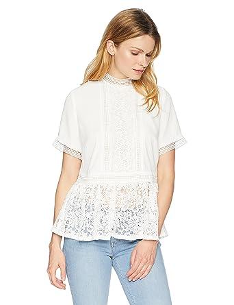 e759e81bf87 CATHERINE CATHERINE MALANDRINO Women's Francine Blouse at Amazon Women's  Clothing store: