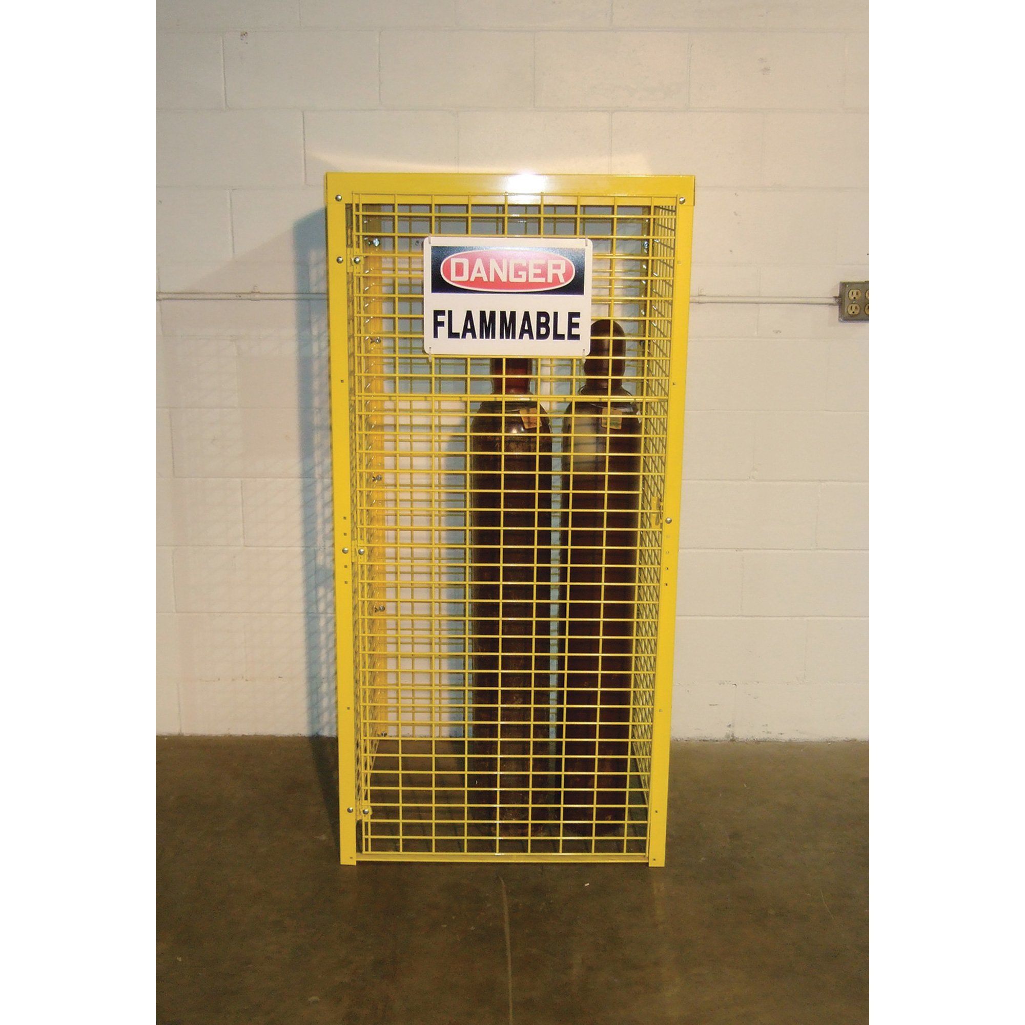AK Saf-T-Store Cylinder Cabinet - 29in.W x 29in.D x 66in.H, Holds 8 Horizontal Cylinder Tanks, Model# SAF-T-8