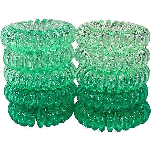 Green Tourmaline Leaf Hair Spiral Hair Charm