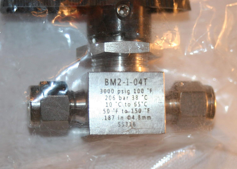 3000 Psig 1//4 Tube OD 316ss Ball Valve Tylok BM2-I-04T