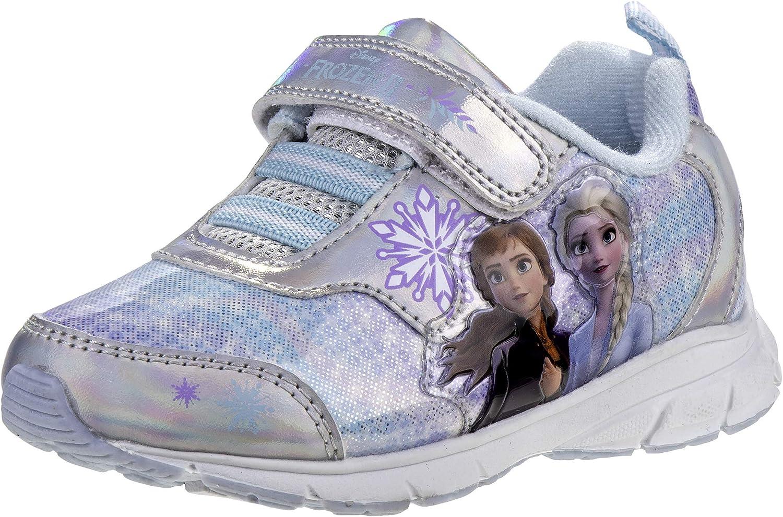 Disney Kids Girl/'s Frozen II Sneaker Silver//Blue Toddler//Little Kid