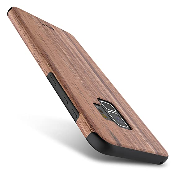san francisco d2904 2716e Galaxy S9 Case, B BELK [Slim to Beat] Soft Wood Hybrid Flexible TPU Cushion  [Thin Matte] Premium Rubber Bumper Back Cover, Shock Resistant Wooden ...