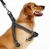 Dog Harness, Aiweam Adjustable Basic Nylon Step-In Puppy dog harness with Soft Liner, Dog Leash Harness for Small Medium Large Dogs Walking Running and Training