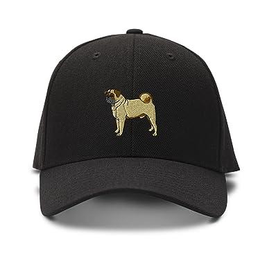 Amazon.com  Speedy Pros Pug Embroidery Adjustable Structured Baseball Hat  Black  Clothing 9e5f9179619