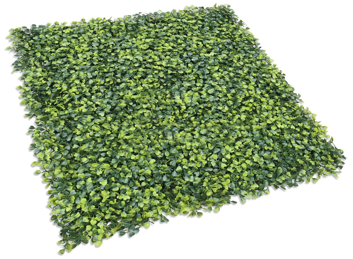 Sunshades Depot Sunshades Depot Artificial Boxwood Milan Leaf Grass Fence Privacy Screen Evergreen Hedge Panels Fake Plant Wall 20''X20'' Inch (30pcs)