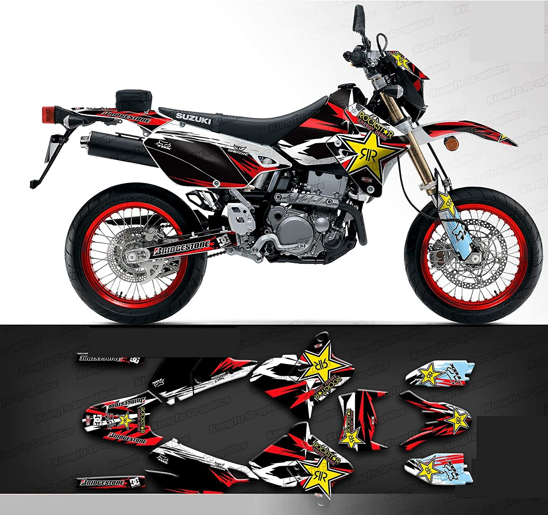 Red Kungfu Graphics Custom Decal Kit for Suzuki DRZ400 E DRZ400E Enduro 1999 2000 2001 2002 2003 2004 2005 2006 2007 2008 2009 2010 2011 2012 2013 2014 2015 2016 2017 2018 2019