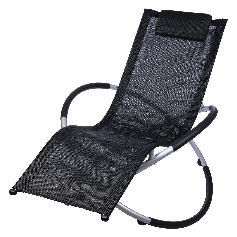 Gartenliege alu klappbar  Amazon.de: Schwarze Relax Aluminium Sonnenliege inklusive ...