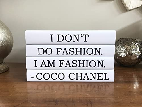 Amazon Com Chanel Decorative Quote Book Set Fashion Coffee Table