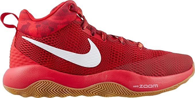 NIKE Men's Zoom Rev 2017 Basketball Shoe (RedWhite, 11.5