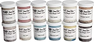 Sax True Flow Crystal Magic Glazes, 4 Ounces Each, Assorted Colors, Set of 12 - 248469