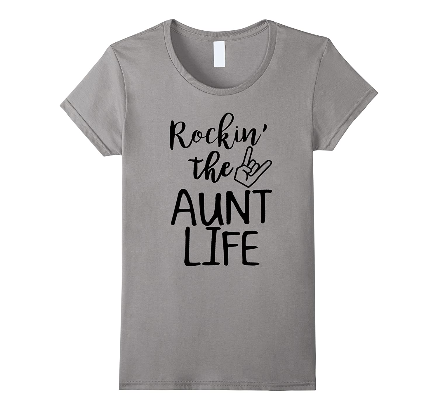 Womens Rocking The Aunt Life T-shirt-Funny Quotes About Family Love-TH