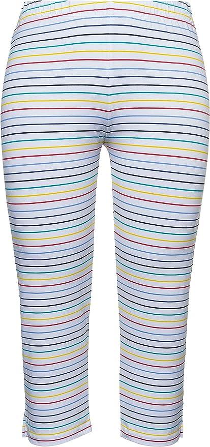 Ulla Popken Womens Plus Size Eco Cotton Animal Print Stretch Leggings 749987