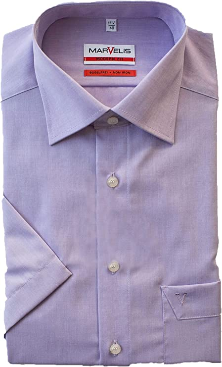 Marvelis Camisa de manga corta de corte moderno, color blanco ...