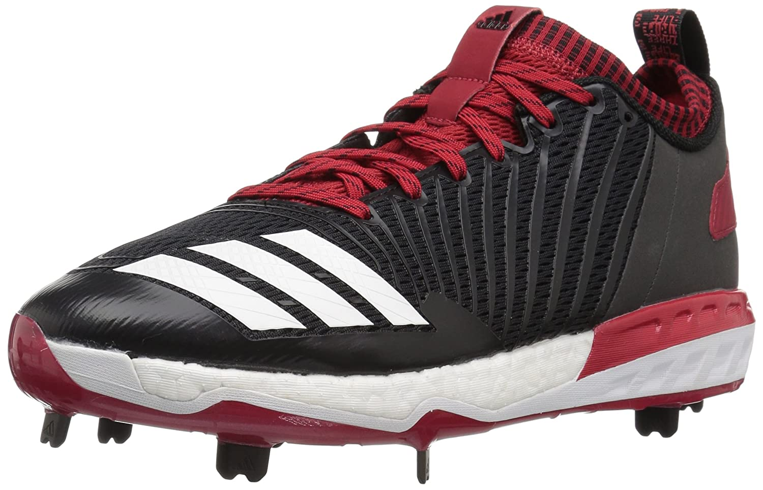 adidas Performance メンズ Boost Icon 3 B01MY0H1FV 12 D(M) US|Black/White/Power Red Black/White/Power Red 12 D(M) US