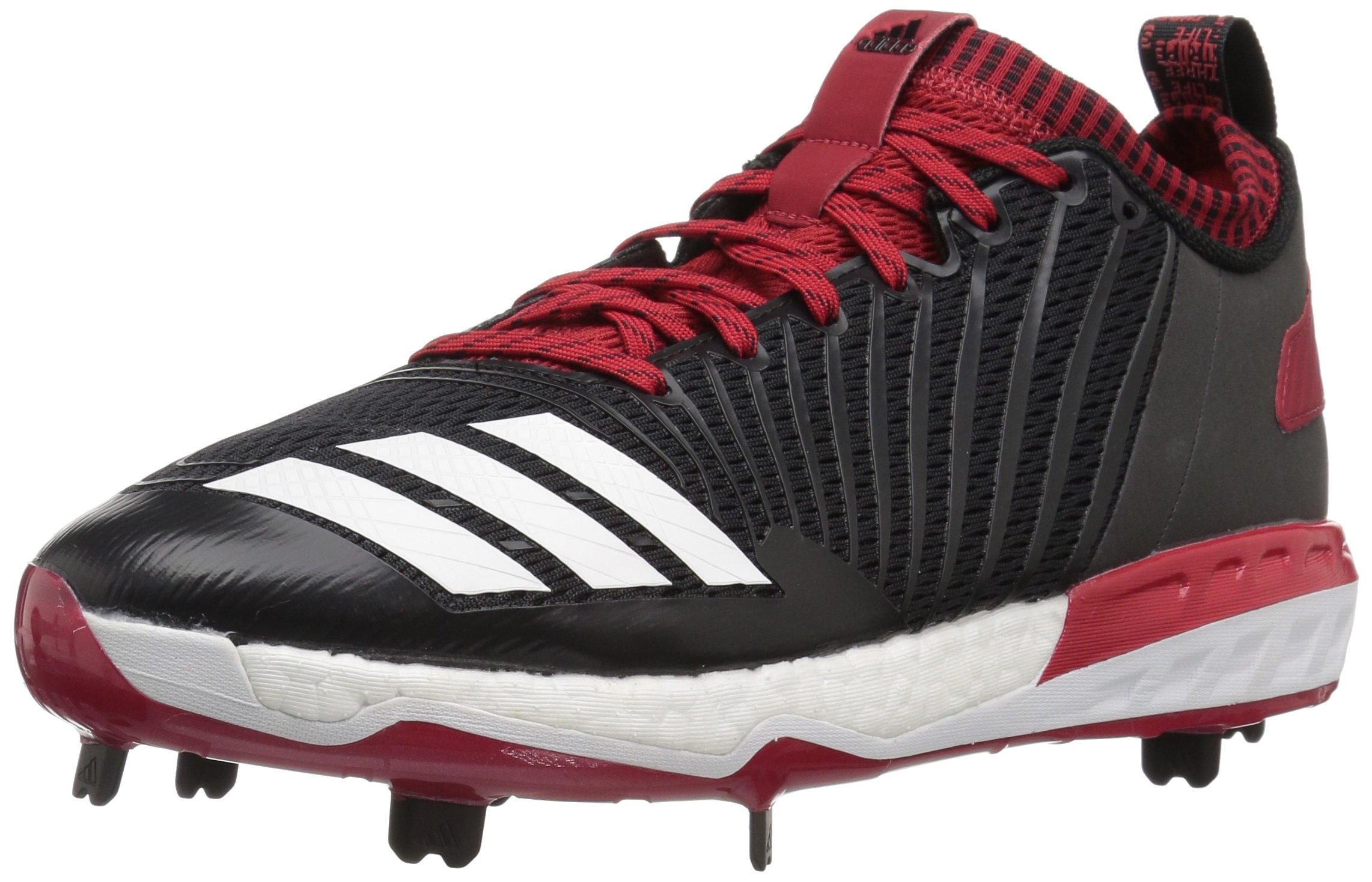 adidas Men's Freak X Carbon Mid Baseball Shoe, Black/White/Power RED, 7.5 Medium US by adidas (Image #1)