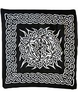 echarpe cheche tribal Breton Celte Celtic Breizh Knot 100x100cm