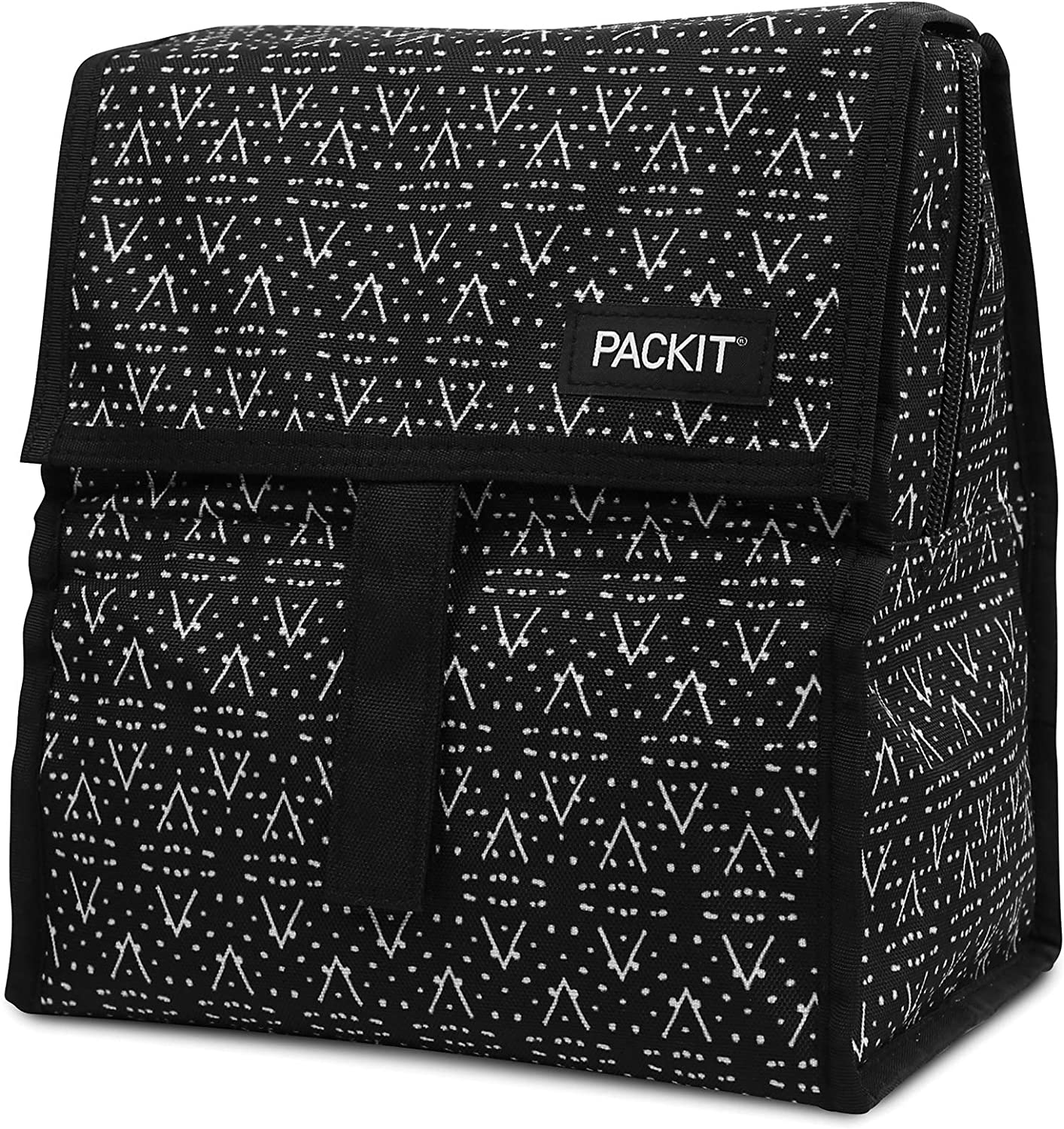 PackIt Freezable Lunch Bag with Zip Closure, Desert Plains