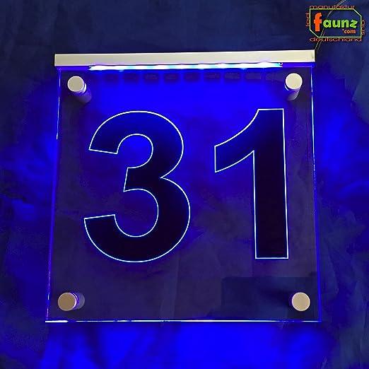 LED exterior Número de Casa Vía - cartel luminoso ...