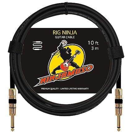 Amazon Com Rig Ninja Guitar Cable By Ninjamuso Quality Electric