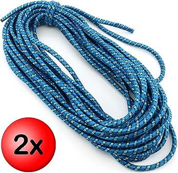 Expanderseil 100 m Blau 10 mm Gummiseil Gummischnur Spannseil Planenseil Leine