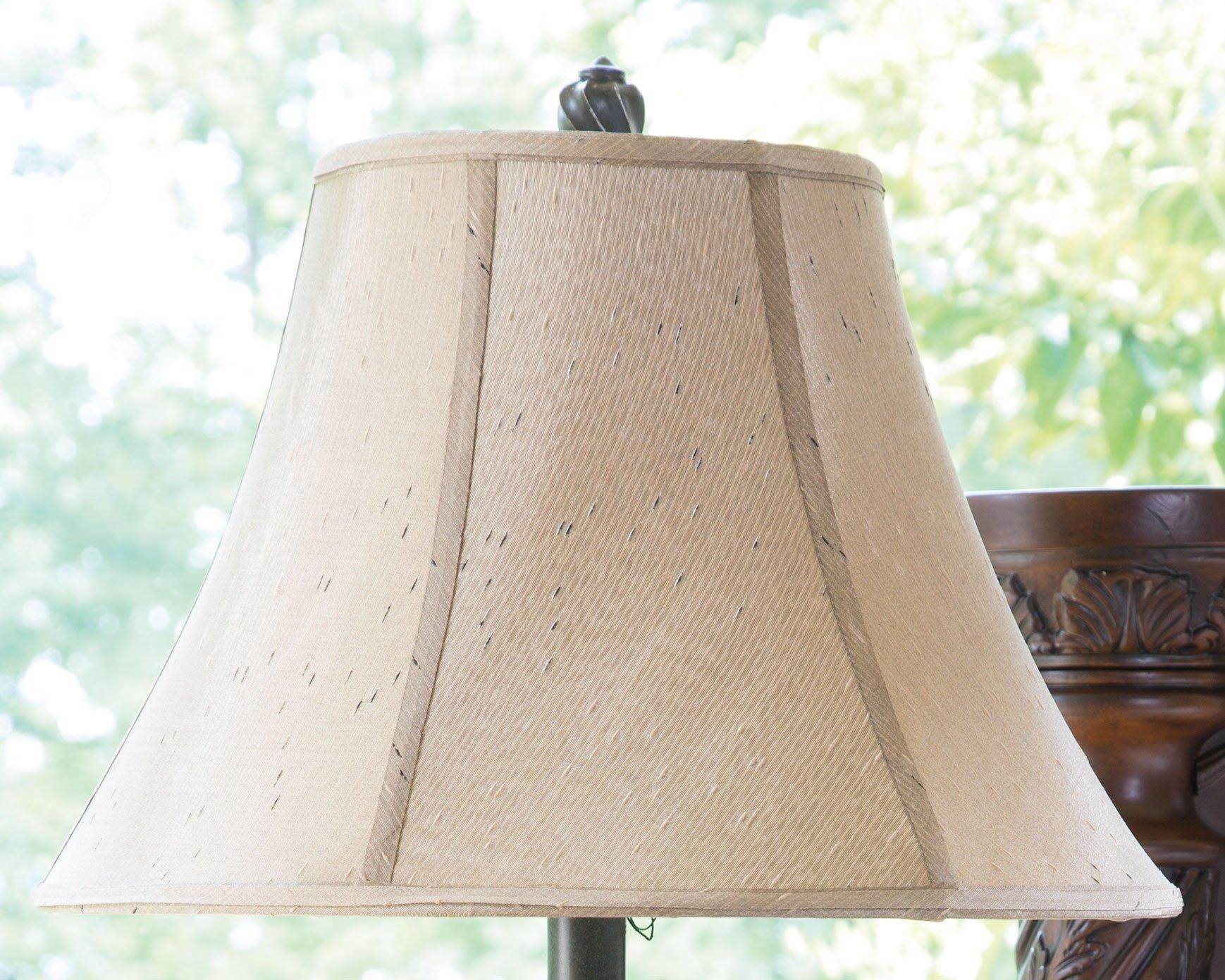 Ashley Furniture Signature Design - Gavivi Table Lamp - Elegant Vintage Style - Softback Bell Shade - Set of 2 by Signature Design by Ashley