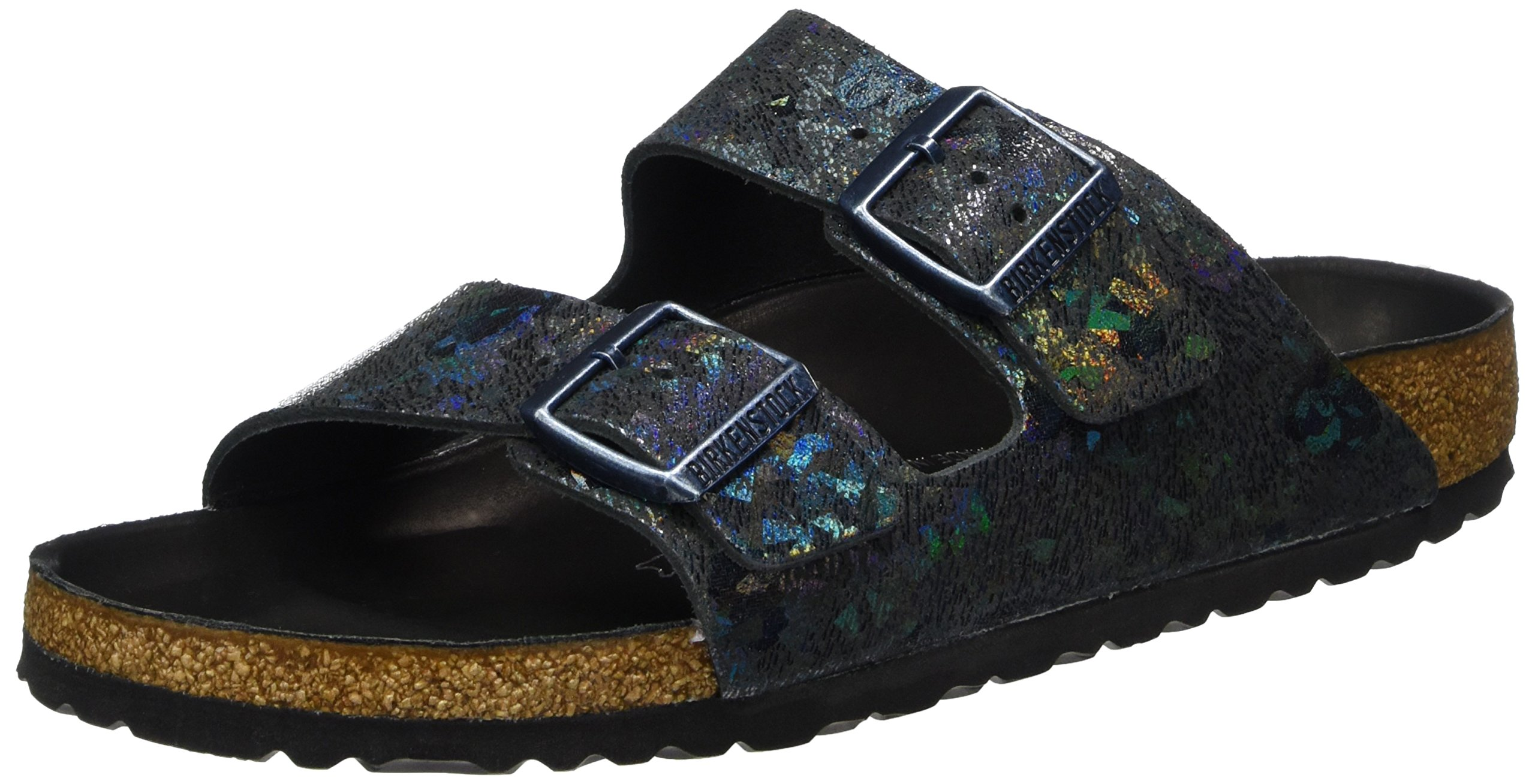 Birkenstock Arizona Lux Leather Spotted Metallic Black