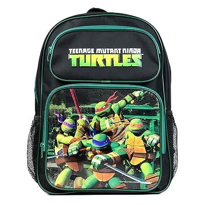 Disney, Universal Studios, Nickelodeon, Marvel Multi Color School Backpacks (Teenage Mutant Ninja Turtle Black): Clothing