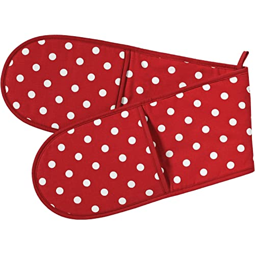 Belle Red Polka Dot Double Oven Glove by C'est Ca!