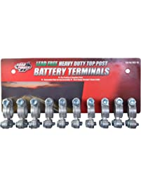 Coleman CableRoad Power 903-10 Top Post Battery Terminal, 10-Pack, Chrome, 6 and 12-Volt