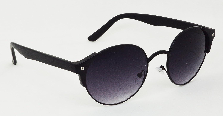 8e944a63ea Amazon.com  HRINKAR Men s Round Frame Lens Uv Protection SunglassesGrey  Grey  Clothing