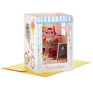 Hallmark Paper Wonder Displayable Pop Up Birthday Card for Her (Bakery)