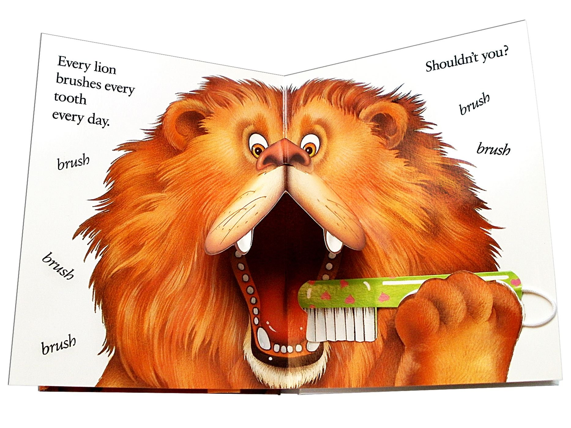 Brush Your Teeth Please A Pop Up Book Amazon Co Uk Leslie