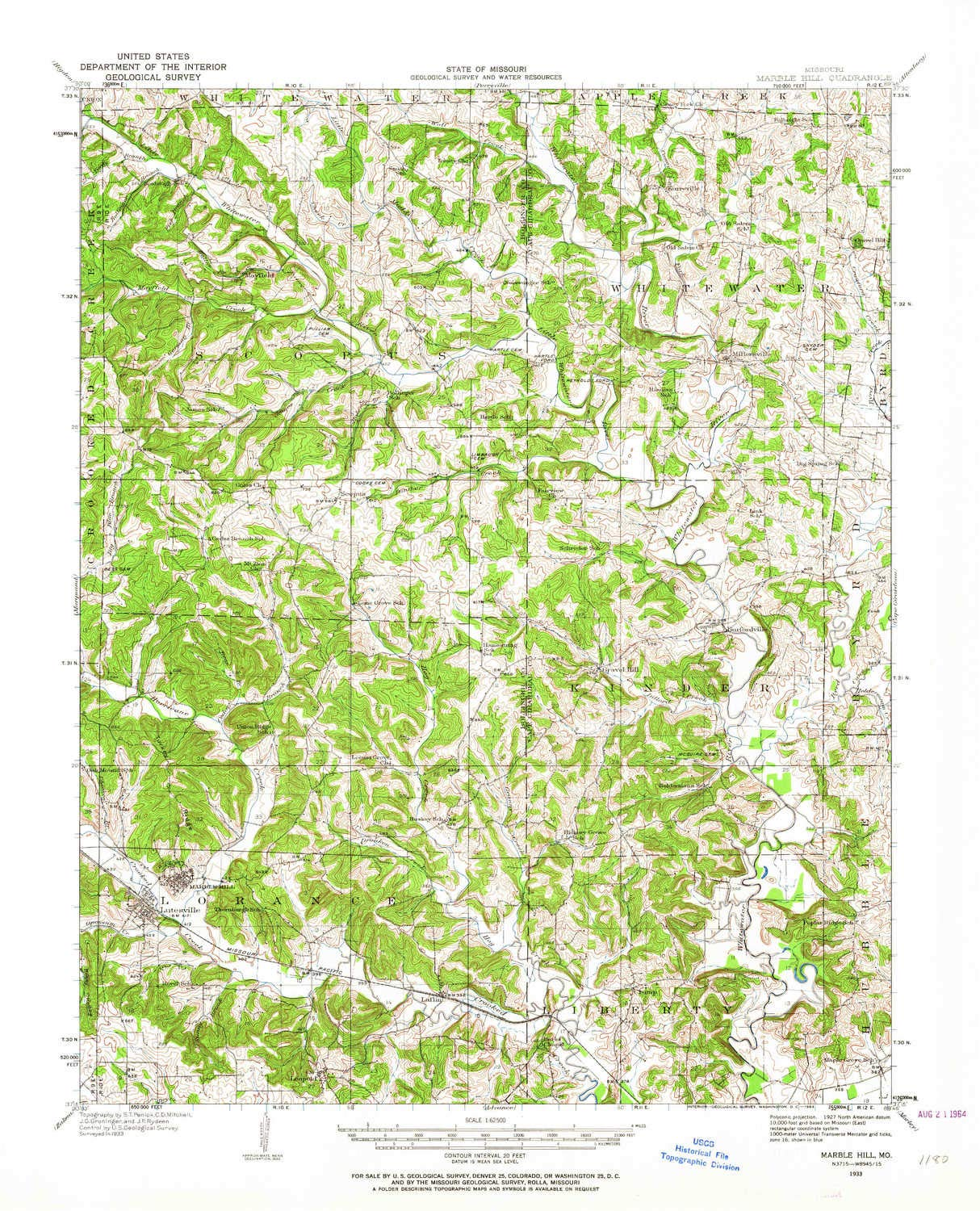 Amazon Com Yellowmaps Marble Hill Mo Topo Map 1 62500 Scale 15 X