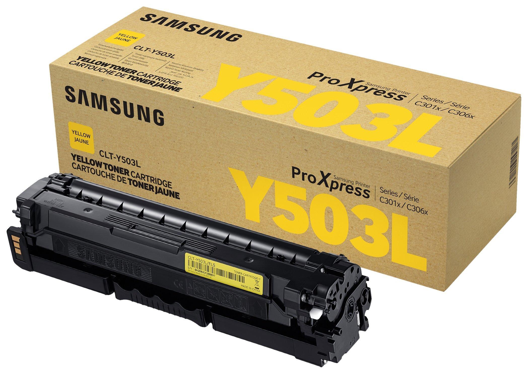Samsung Electronics CLT-Y503L High-Yield Toner, Yellow (SU494A)