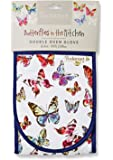 Cooksmart Butterfly Double Oven Glove, Cotton, Multi-Colour