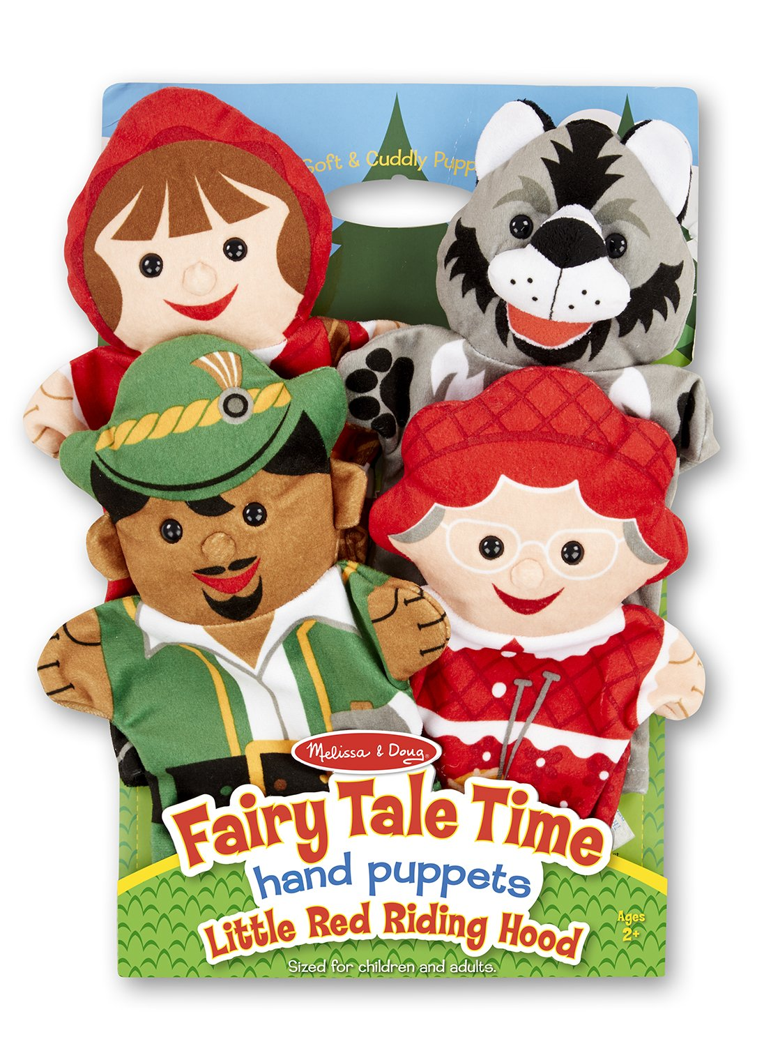 Beach Large 4 Hand Puppets Set Little Red Riding Hood Story Pack
