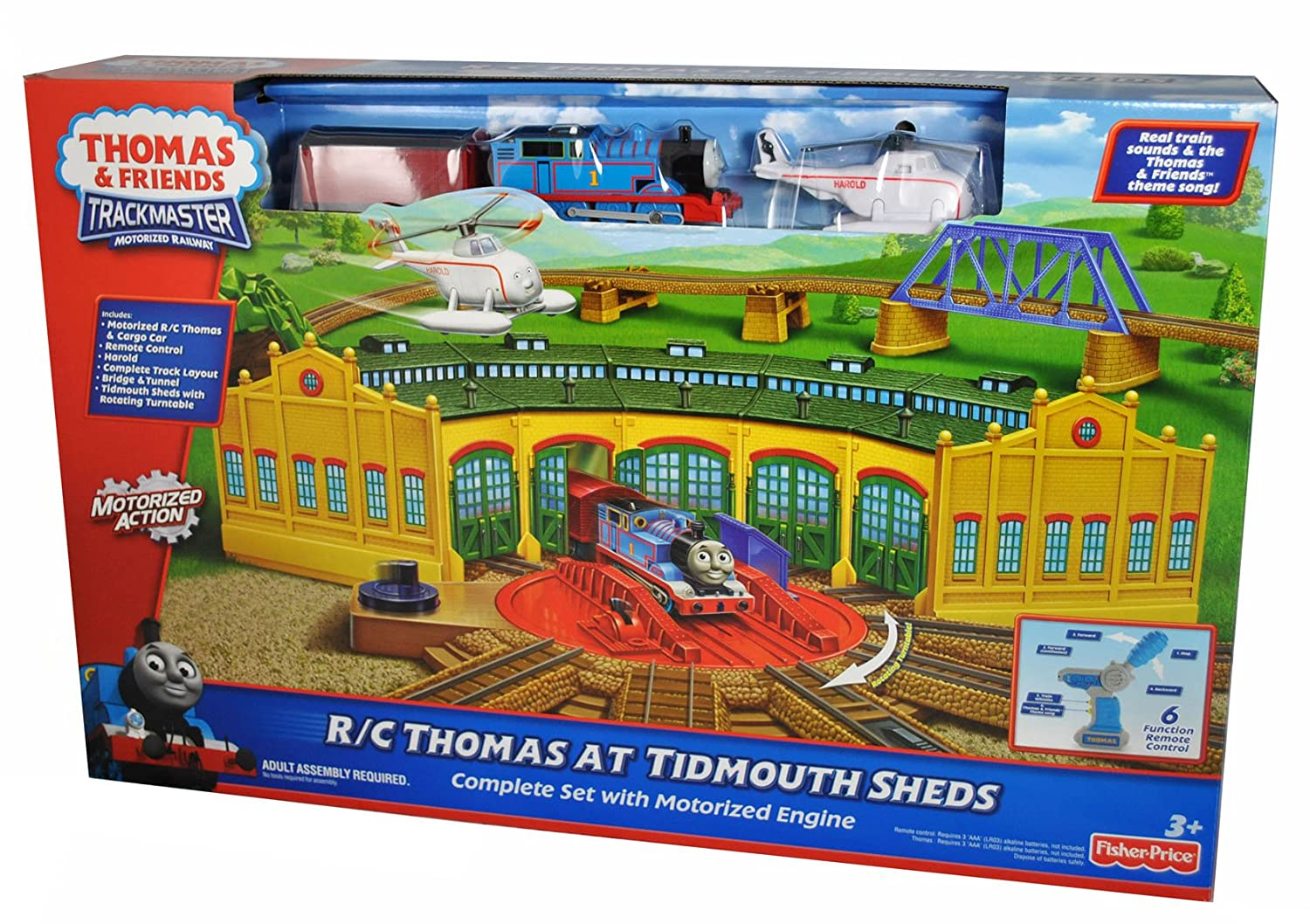 Awesome Thomas Friends Trackmaster R C Thomas At Tidmouth Sheds Home Remodeling Inspirations Genioncuboardxyz