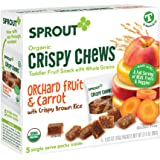 Sprout Organic Crispy Chews Toddler Snacks, Orchard Fruit & Carrot, 0.63 Ounce Single Serve Packets (Box of 5)