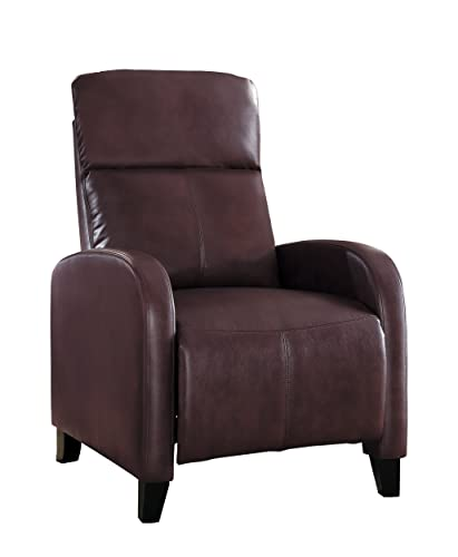 Homelegance Antrim Modern Profile Bi-cast Vinyl Push Back Reclining Chair, Brown
