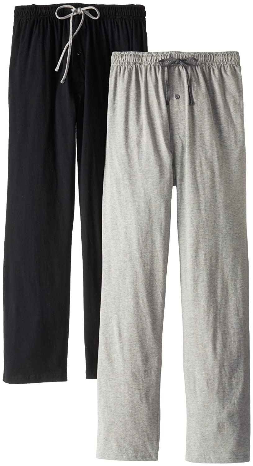 5e9da3306 Hanes Men s Solid Knit Jersey Pajama Pant (Pack of Two Pairs) at ...