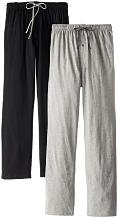 8ce234e2f Hanes Men's Solid Knit Jersey Pajama Pant (Pack of Two Pairs) (Small,