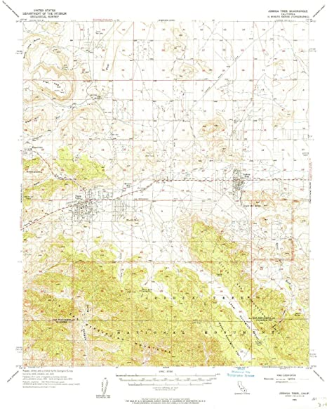 Joshua Tree Topographic Map.Amazon Com Yellowmaps Joshua Tree Ca Topo Map 1 62500 Scale 15 X