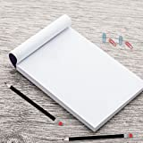 Blank Notepads - Pack of 10 Memo Pads 4 x 6 Inches, 50 Sheets Per Pad - Top Quality Scratch Pads