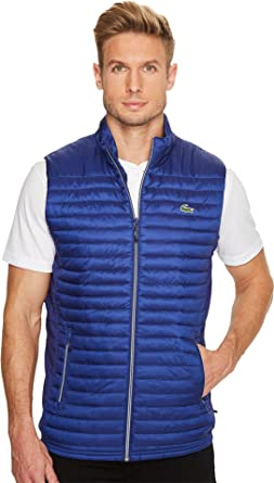 17d5604f88b8 Amazon.com  Lacoste Men s Golf Lifestyle Sport Ripstop Vest  Clothing