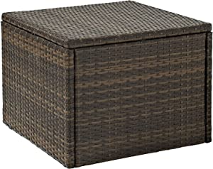 Crosley Furniture CO7202-BR Palm Harbor Outdoor Wicker Coffee Table, Brown